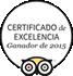 Certificado de Excelencia TripAdvisor - Ganador 2015